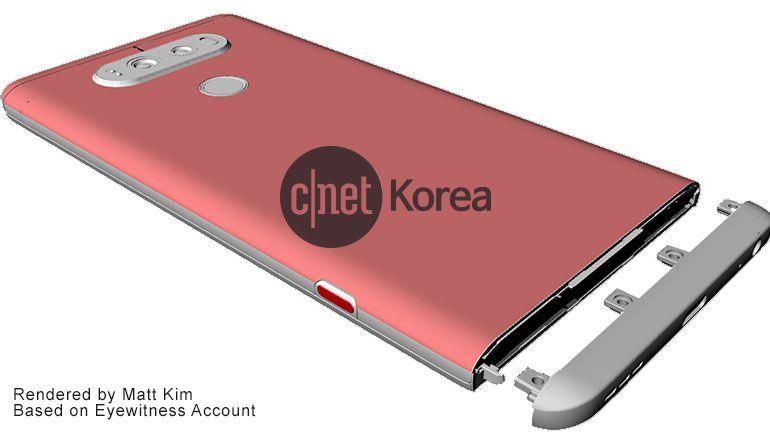 Le prime immagini di LG V20, lo smartphone con Android Nougat 7.0
