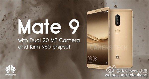 Huawei Mate 9: processore Kirin 960 e fotocamera da 20 mpx | Rumor