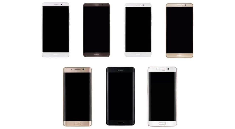 Huawei Mate 9 trapelano le prime immagini render delle varianti 'edge' e 'flat'