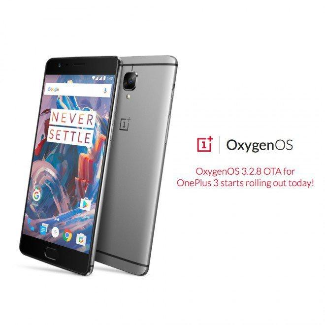 OnePlus rilascia OxygenOS 3.2.8 per OnePlus 3