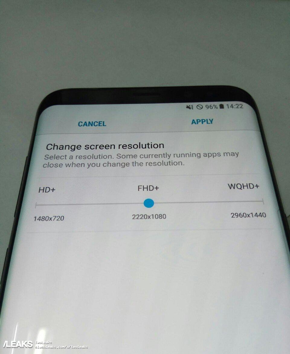 Samsung Galaxy S8: un leak conferma la risoluzione dello schermo